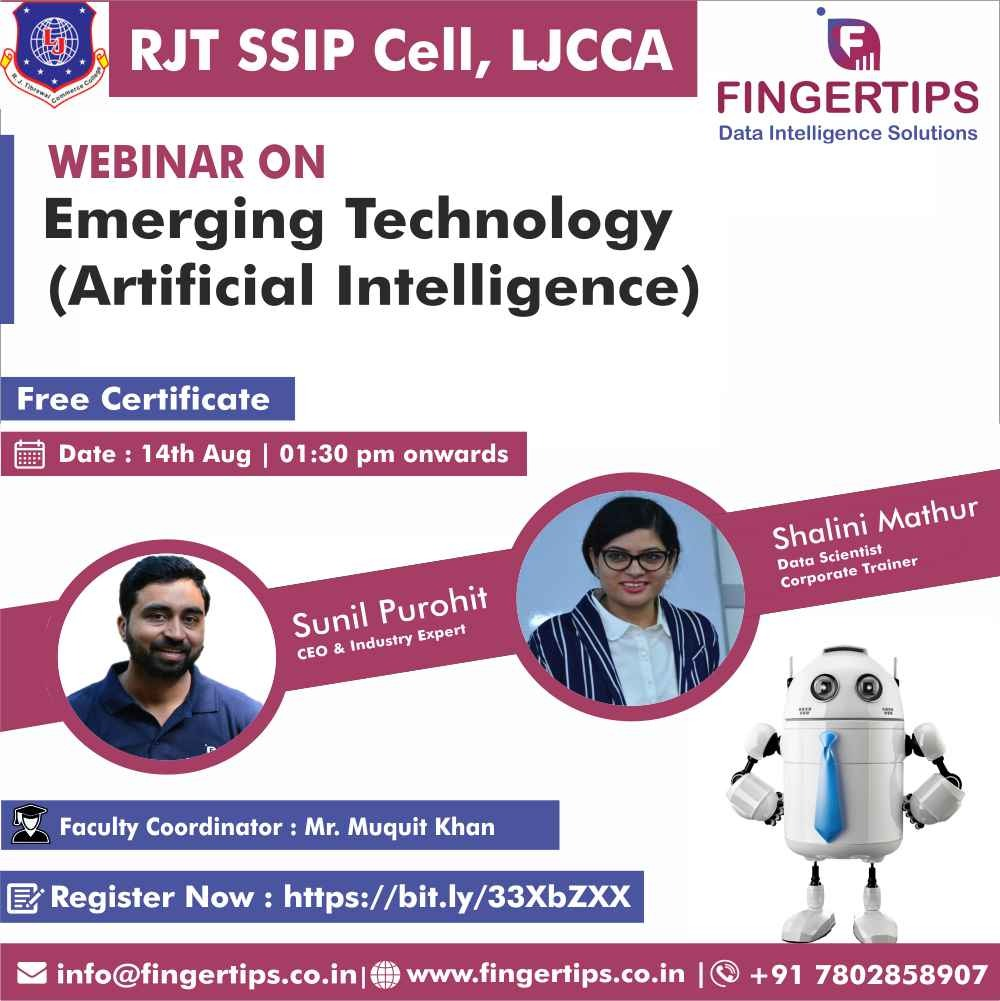 Live Webinar on Emerging Technology - Artificial Intelligence