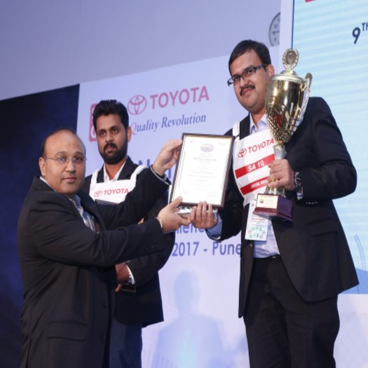 1st Prize in Toyota  9th National Seminar in SA T-TEP Category